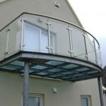 Balcon arrondi en acier sur mesure