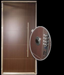 Blocs portes de sécurité Acier habillage bois type DIGITALE