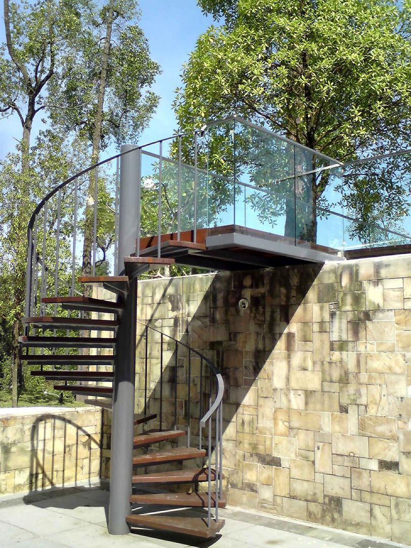 escalier acier bois sur mesure