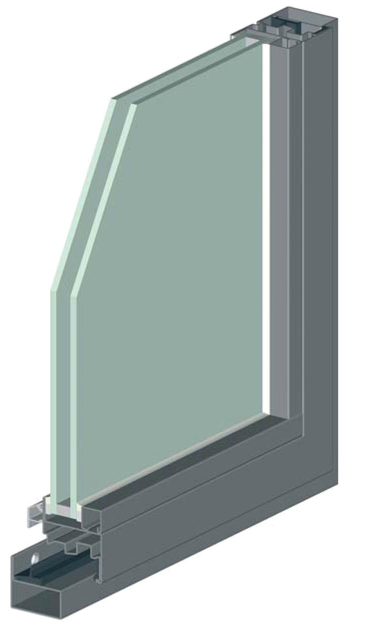 Fenêtre eco 50 ferrure non apparente