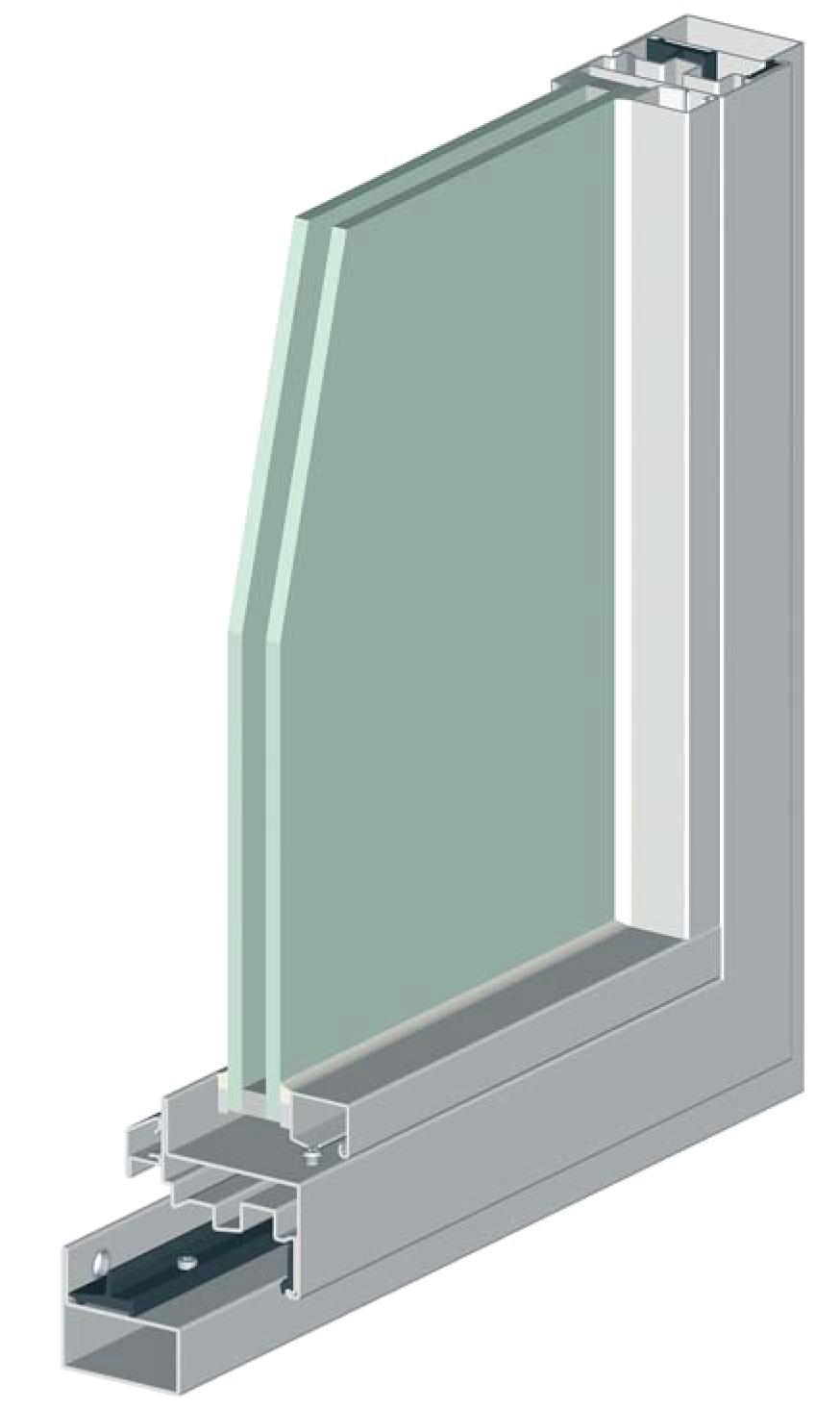 Fen tre porte fen tre acier inox sans rupture de pont for Creation chambre sans fenetre