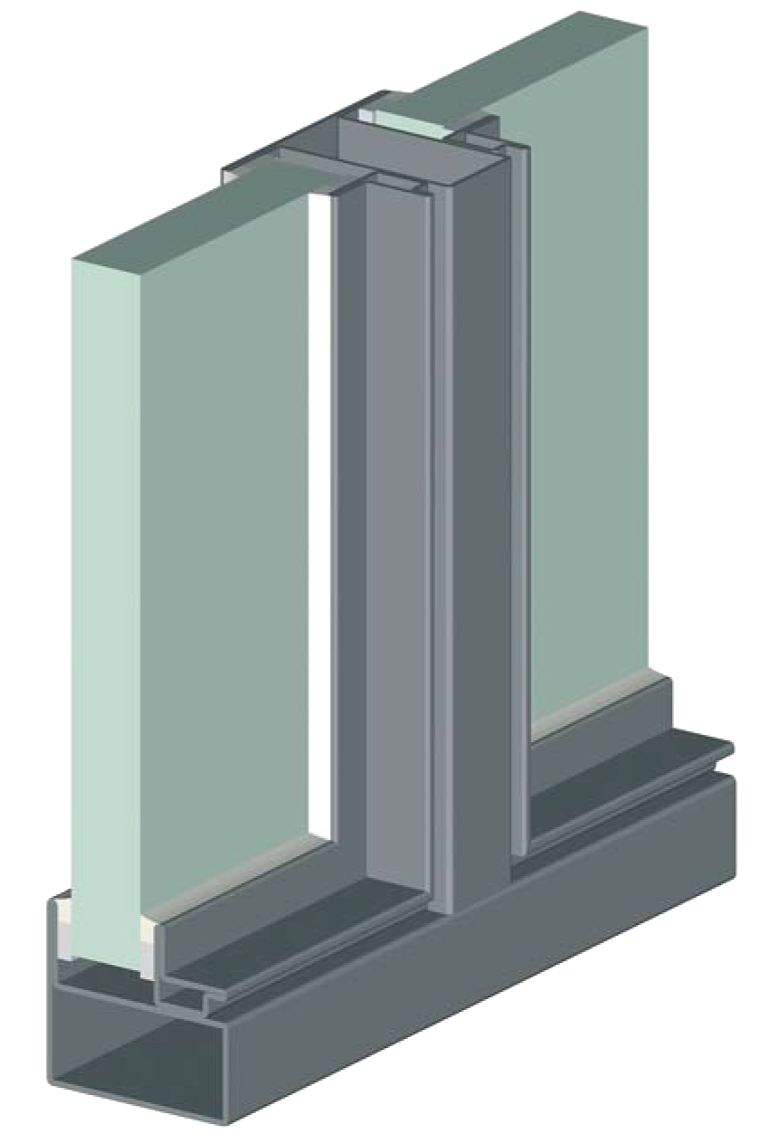 Fenêtre eco 50 parcloses en acier à contour angulaire