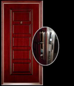 Blocs portes de sécurité Acier habillage bois type GORIS