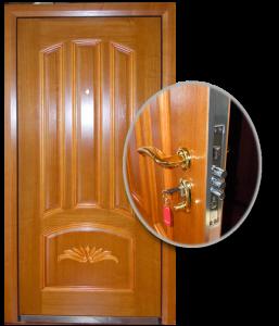 Blocs portes de sécurité Acier habillage bois type KAPAN