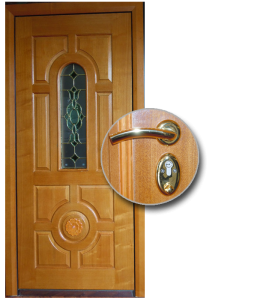 Blocs portes de sécurité Acier habillage bois type KERKOR