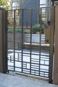 Portillon acier sur mesure design