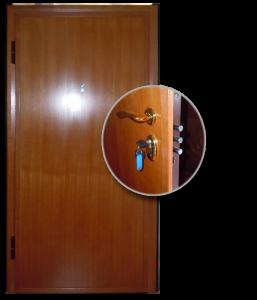 Blocs portes de sécurité Acier habillage bois type SEVAN