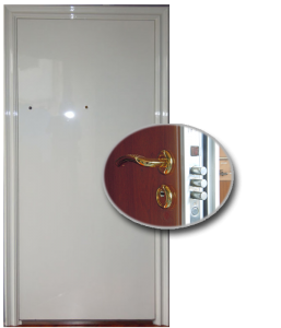 Blocs portes de sécurité Acier habillage bois type TALINE