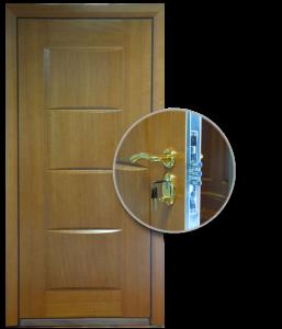 Blocs portes de sécurité Acier habillage bois type TACHIR
