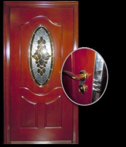 Blocs portes de sécurité Acier habillage bois type VARDEN